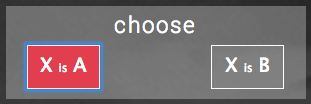 Image of the choice interface